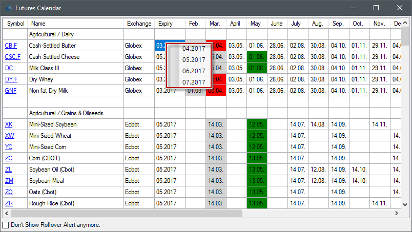 Agenatrader Wiki Instrument Escort Futures Contract Rollover