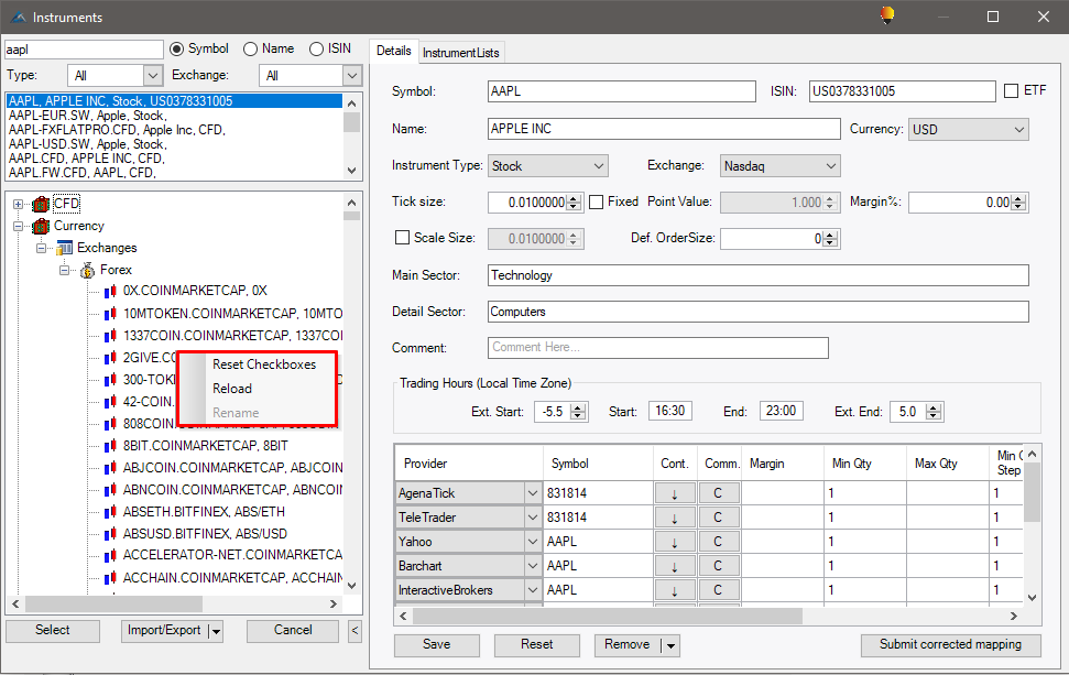 Barcharts Options Screener