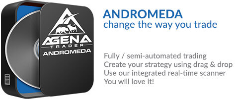 Trading platform AgenaTrader Andromeda with semi- and fully automated trading